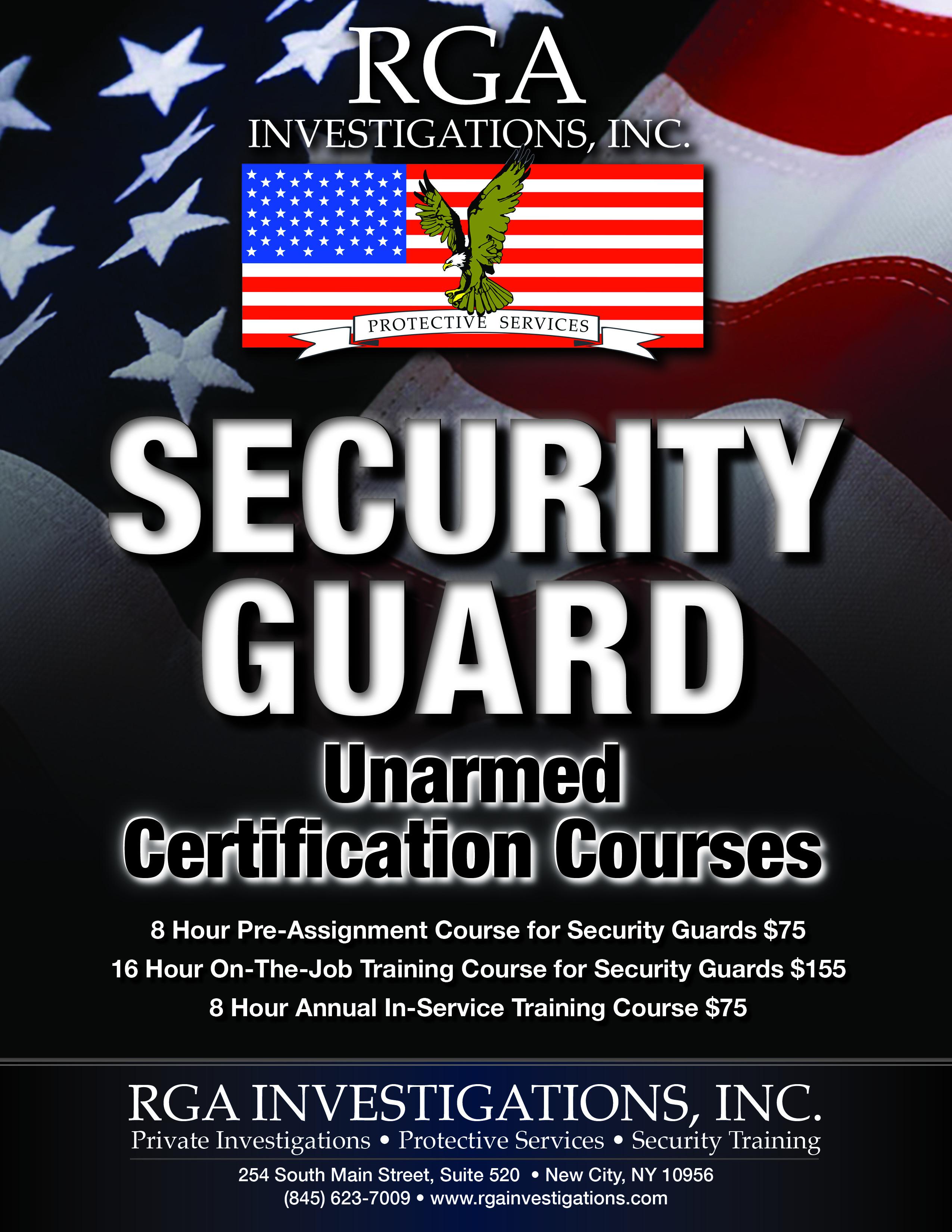 Nys 8 Hour Pre Assignment Security R I S E